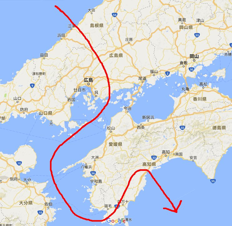 北にこんな変態軌道のロケット飛行を成功させる技術力があるならとっとと空爆したほうがいいな https://t.co/vZhbE6Nqus