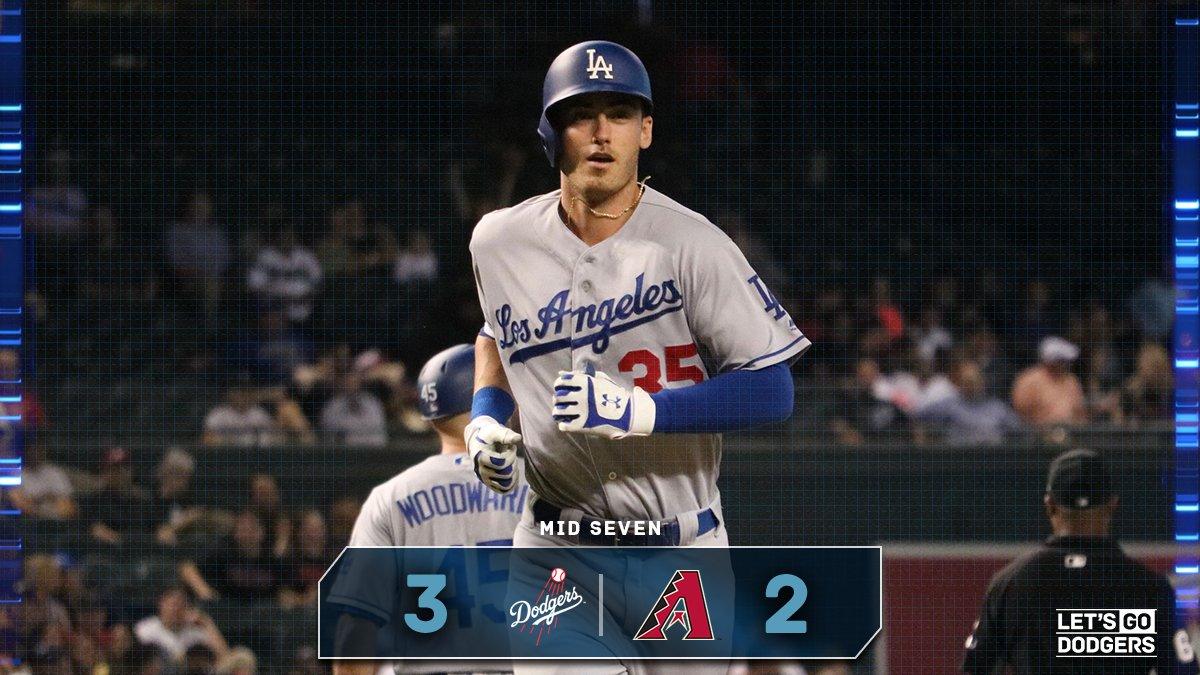 Mid 7:  #Dodgers 3, D-backs 2  �� https://t.co/FWxgzIOSrk