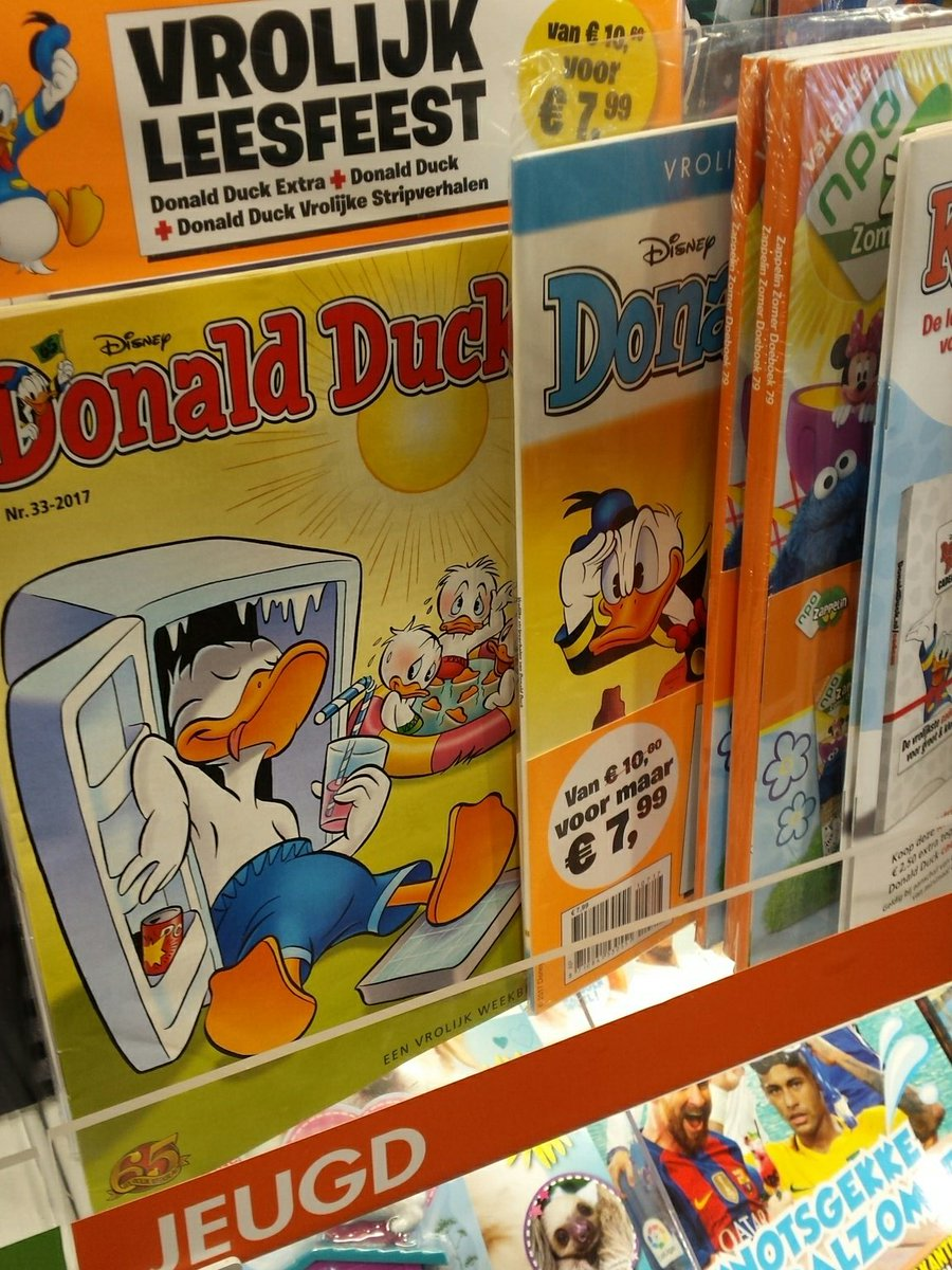 @DonaldDuckNL by far the most popular magazine...for the age of 8 till 88 😉 https://t.co/4bXSdnXIeM