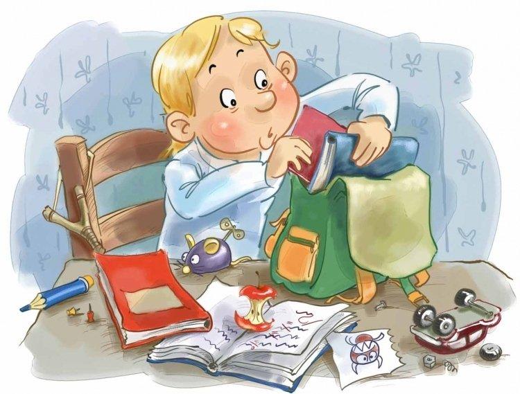 Сборы в школу картинка для детей