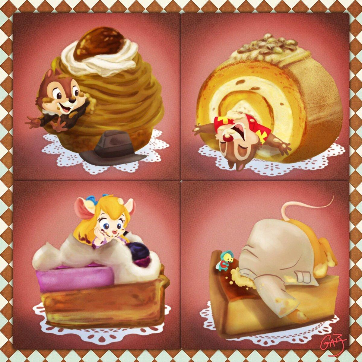 ガガガ No Twitter ヘッダーにしてたヤツら 自分への誕生日ケーキのつもりだった ありがとね笑 B V B Fanart Rescuerangers チップとデール ガジェット モンタリー ジッパー チップとデールの大作戦