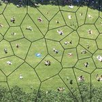 I love this one! Voronoi diagram of people hanging out in a park. https://t.co/8QLqslhWQz
