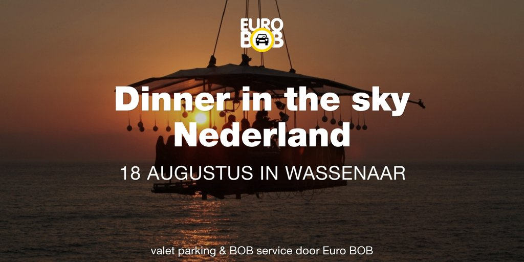 Gratis valet parking bij Dinner in the Sky bij Kasteel de Wittenburg in Wassenaar. http://www.dinnerintheskynederland.nl voor meer info.