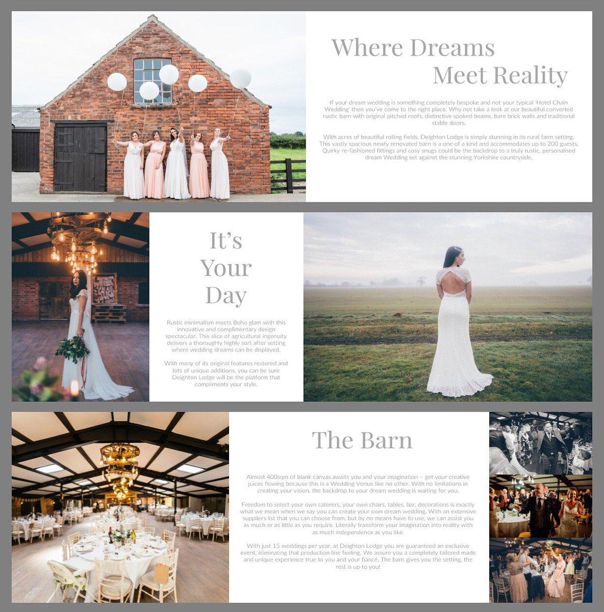 Deighton Lodge On Twitter B R O C H U E The Brochure Here Https T Co Whkssblkjk Wedding Farmwedding Barn