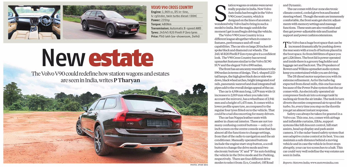 Volvo Cars India On Twitter The Volvo V90 Cross Country Is In A Different League Altogether When It Comes To Features Performance And Off Road Capabilities Https T Co 4yfqoklcgc
