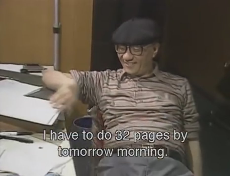 I've spent a lot of time over the years thinking about Tezuka's smile in this photo. https://t.co/Nk6xT7HOWf