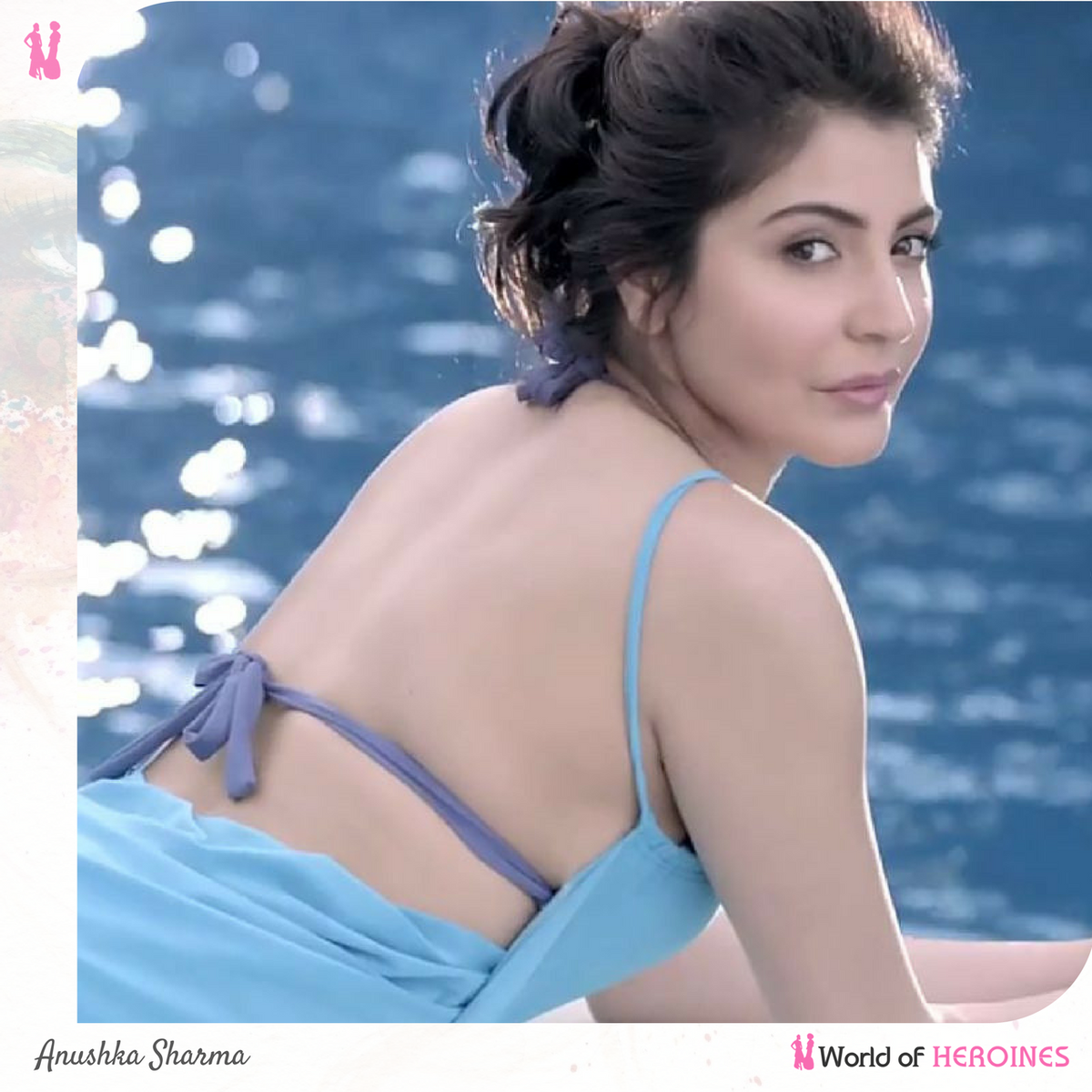 "world of heroines on twitter: ""#anushka sharma has donned a blue"