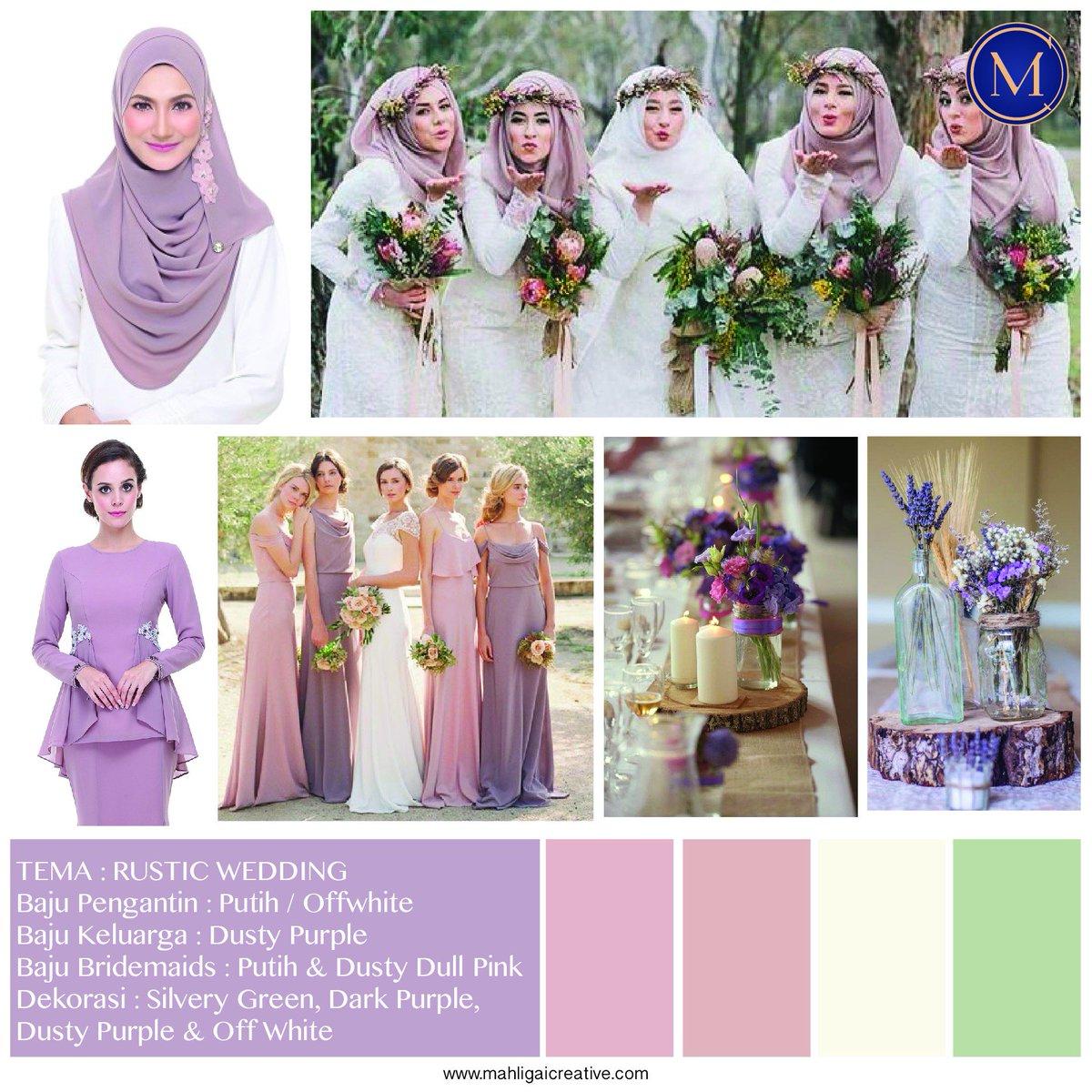 Admin Twt Wedding On Twitter Rustic Purple Ni Atau Warna