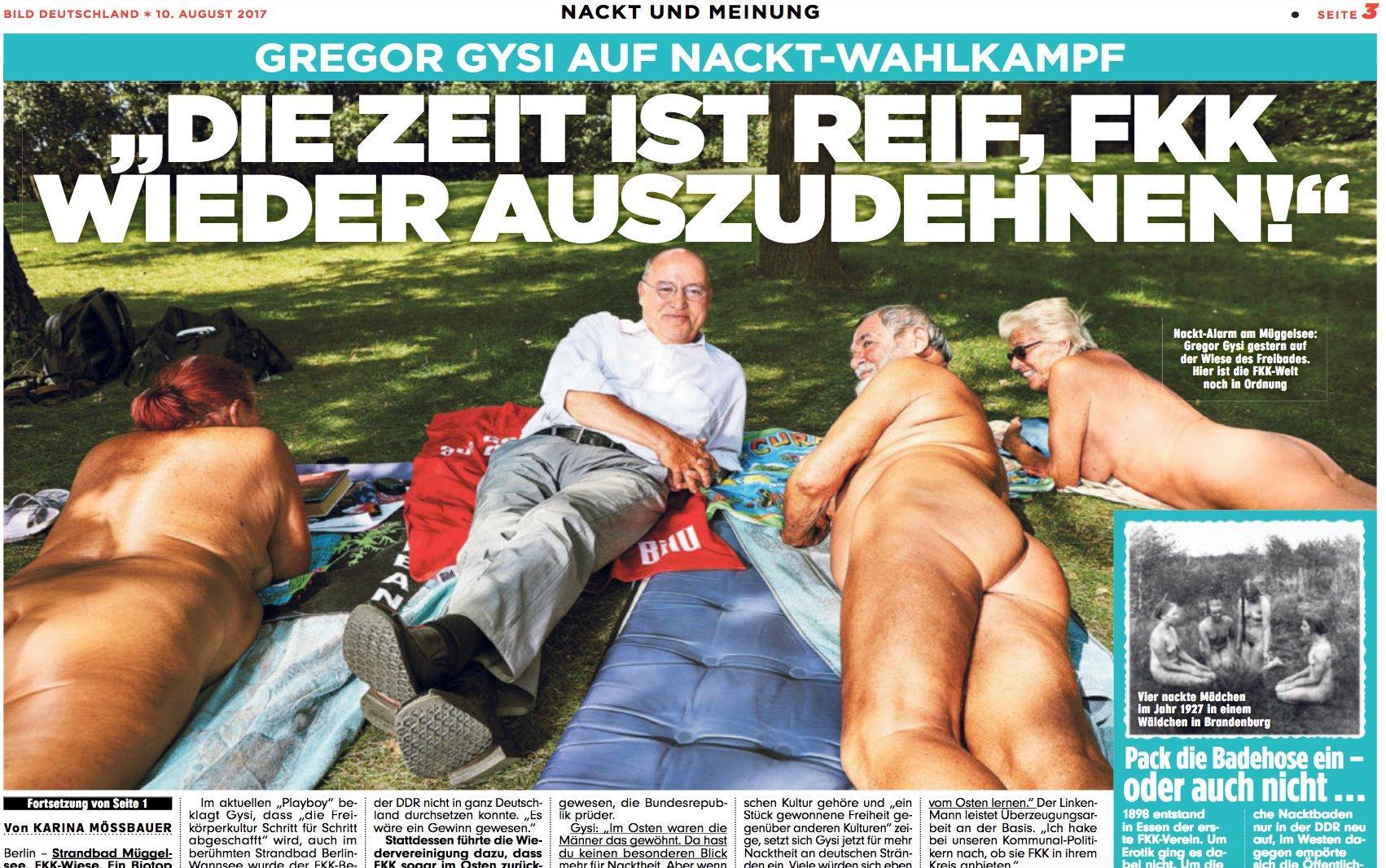 Nackt fkk männer Mit Übersichtskarte: