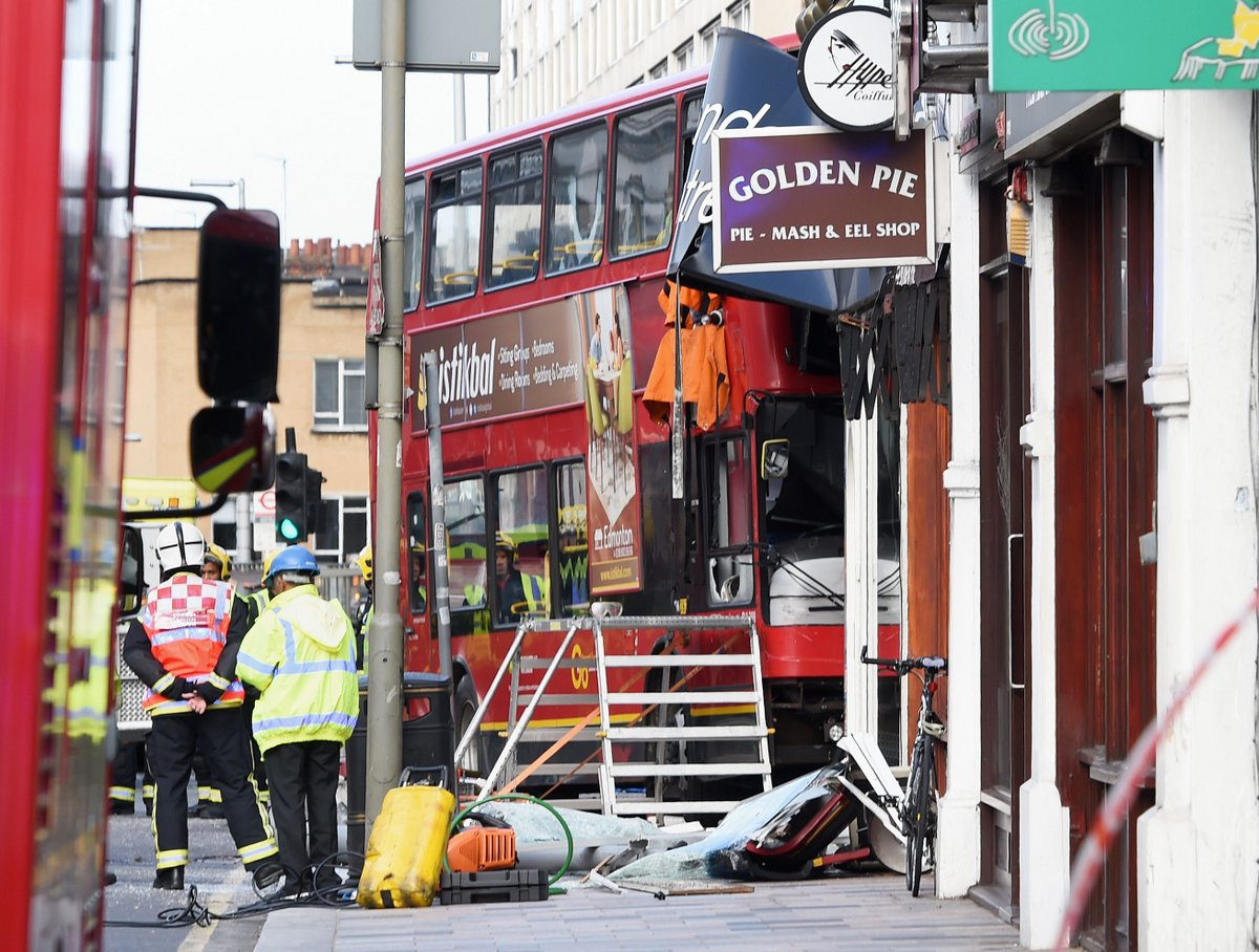 Double-Decker Bus Accident London Lavender Hill Street