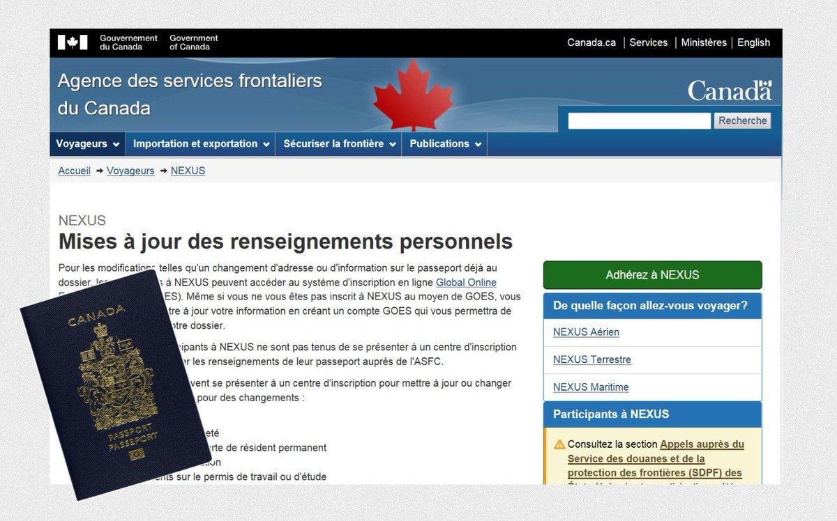 Carte Nexus Canada.Passeport Canada On Twitter Titulaire De Carte Nexus N Oubliez