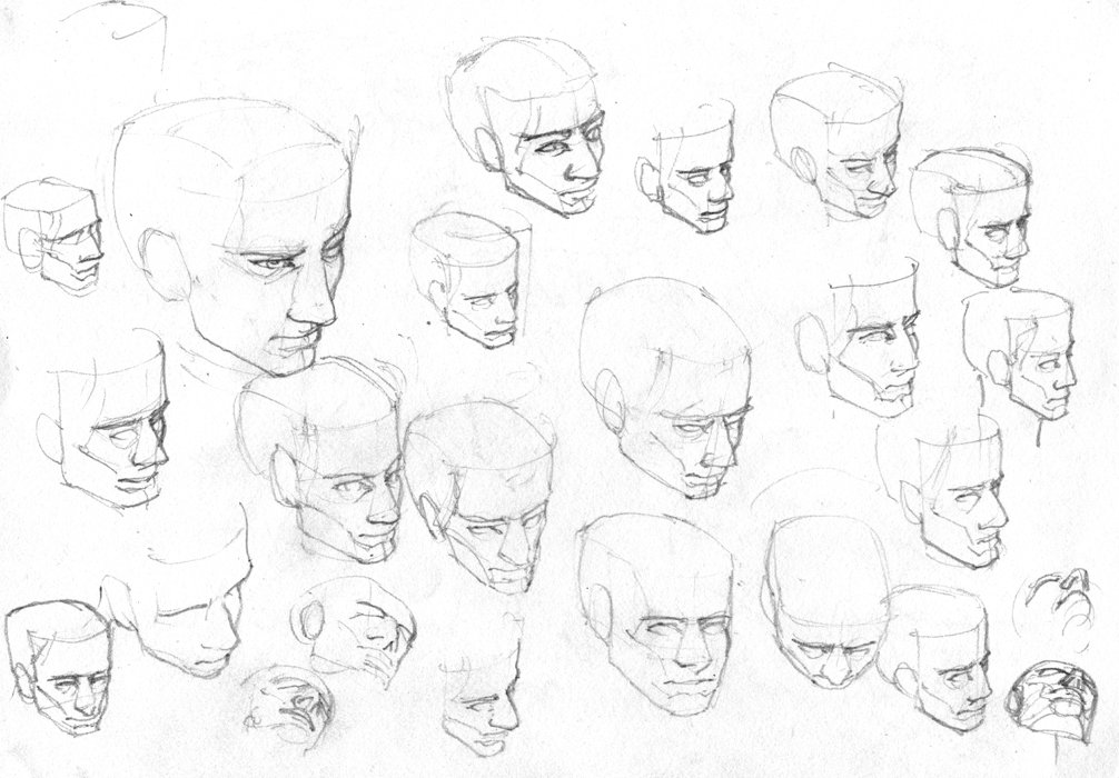 Jerome Jacinto Twitter High Angle Face And Head Pencil Sketches