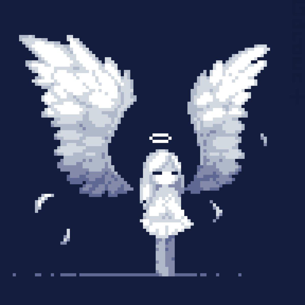Garden Plus On Twitter Dotpict Pixelart Pixel An Angel