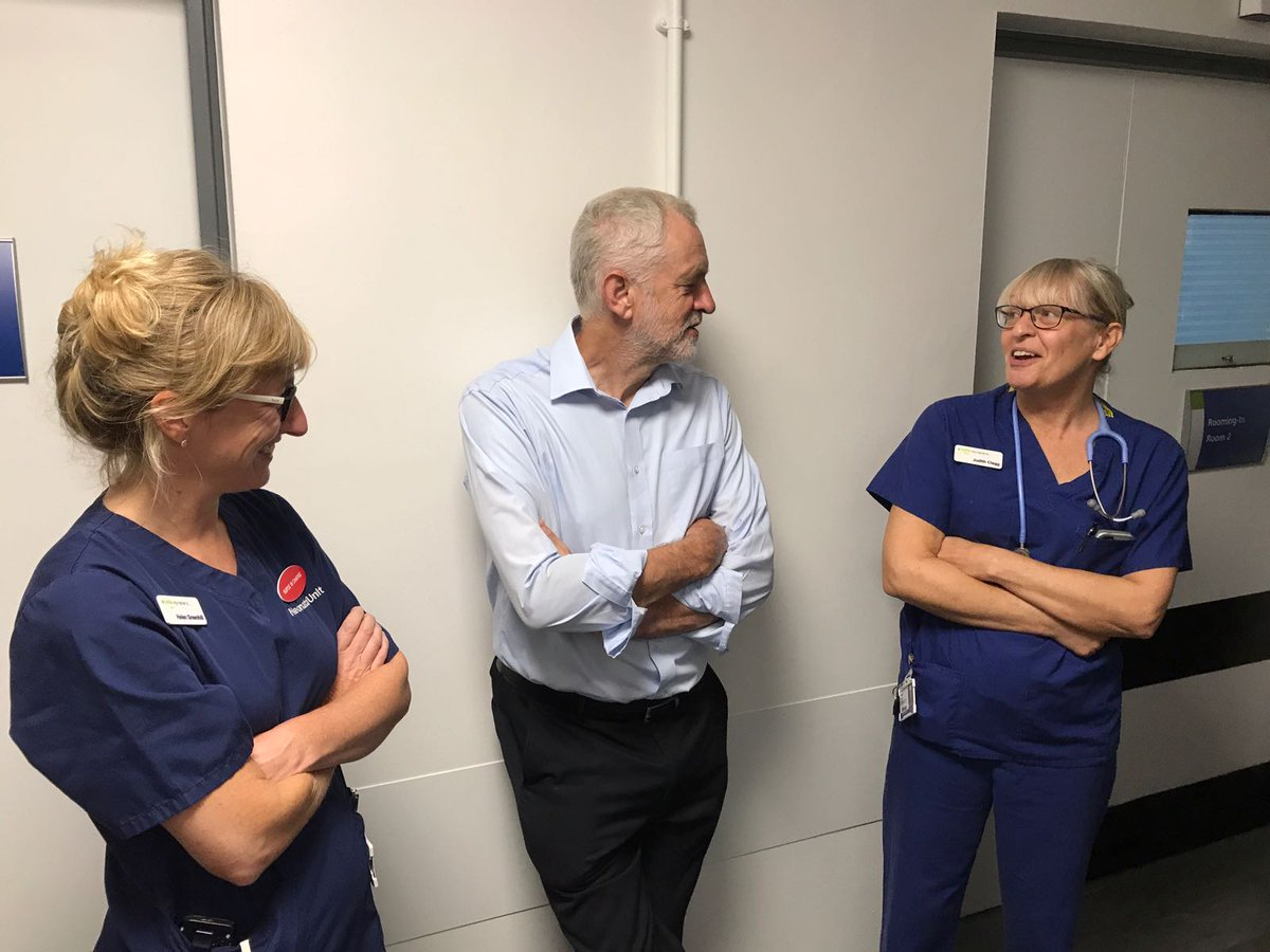 With nurses at Royal Cornwall Hospital who work tirelessly to give patients the treatment they deserve despite underfunding by the Tories.