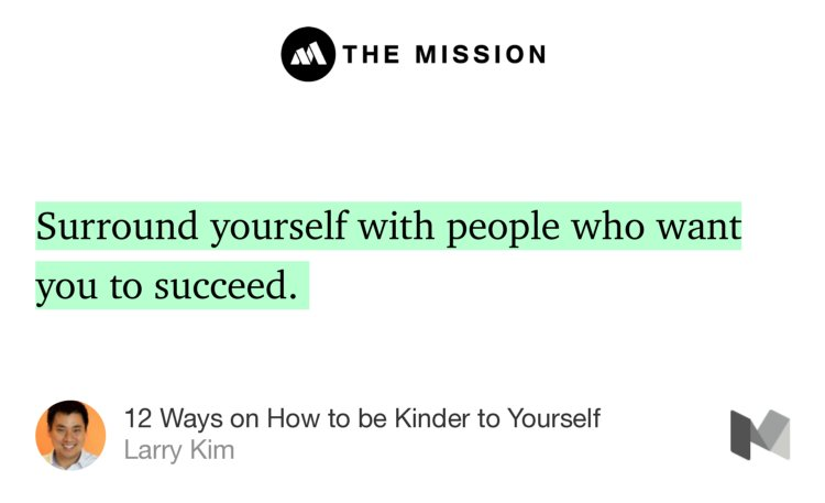 """12 Ways on How to be Kinder to Yourself"" — @larrykim https://t.co/u24T2hy4Eb https://t.co/iKgP2JFydr"