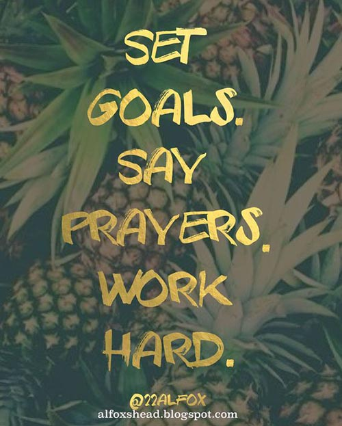 #GoodAfternoonAll, Check out our #QuoteOfTheDay. #SetGoals, Say #Prayers &amp; #WordHard. Recipe to #success. Have a great day! #TeamPersona <br>http://pic.twitter.com/MaRN49Gp5I
