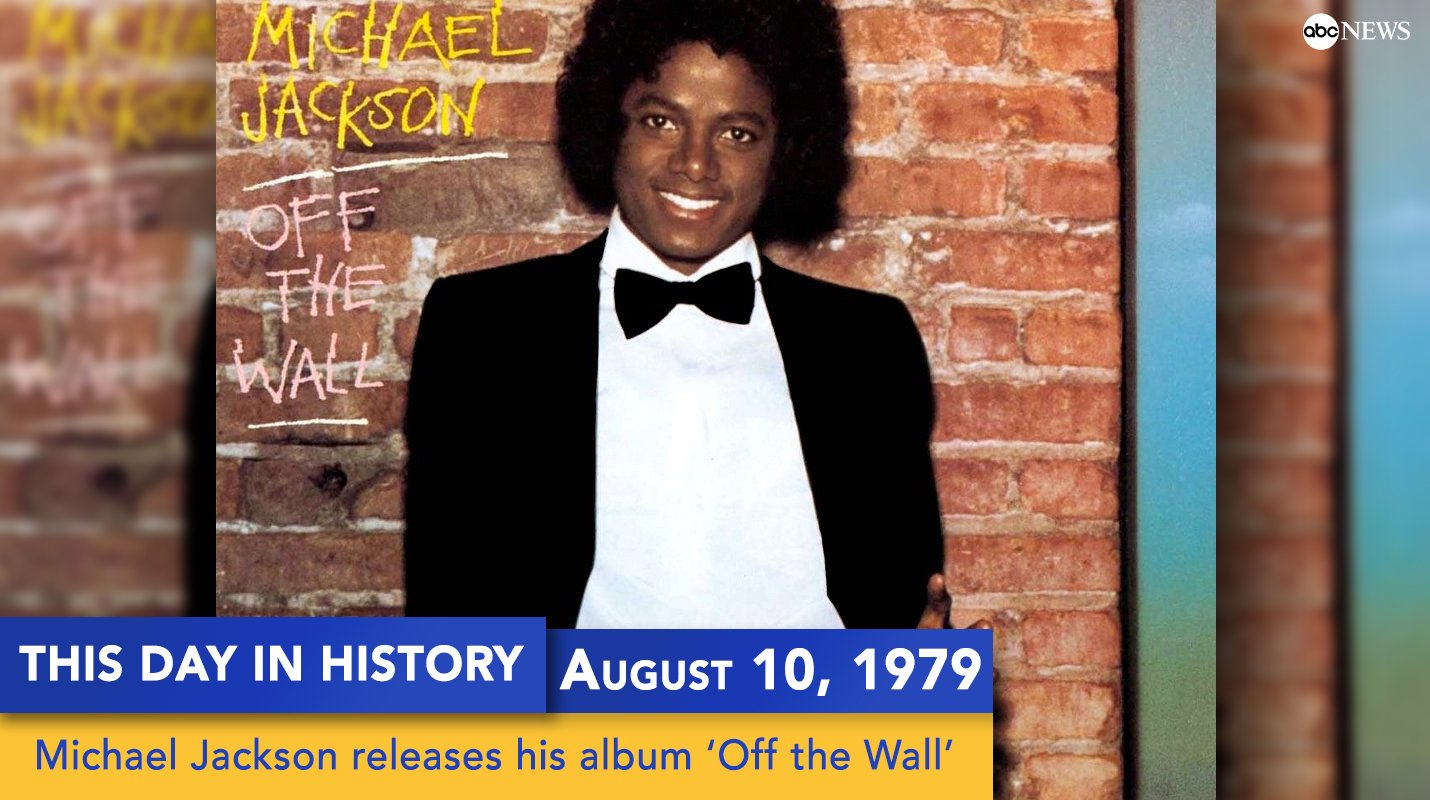 Michael Jackson released his album 'Off the Wall' on this day 38 years ago https://t.co/sTaPPyujc9