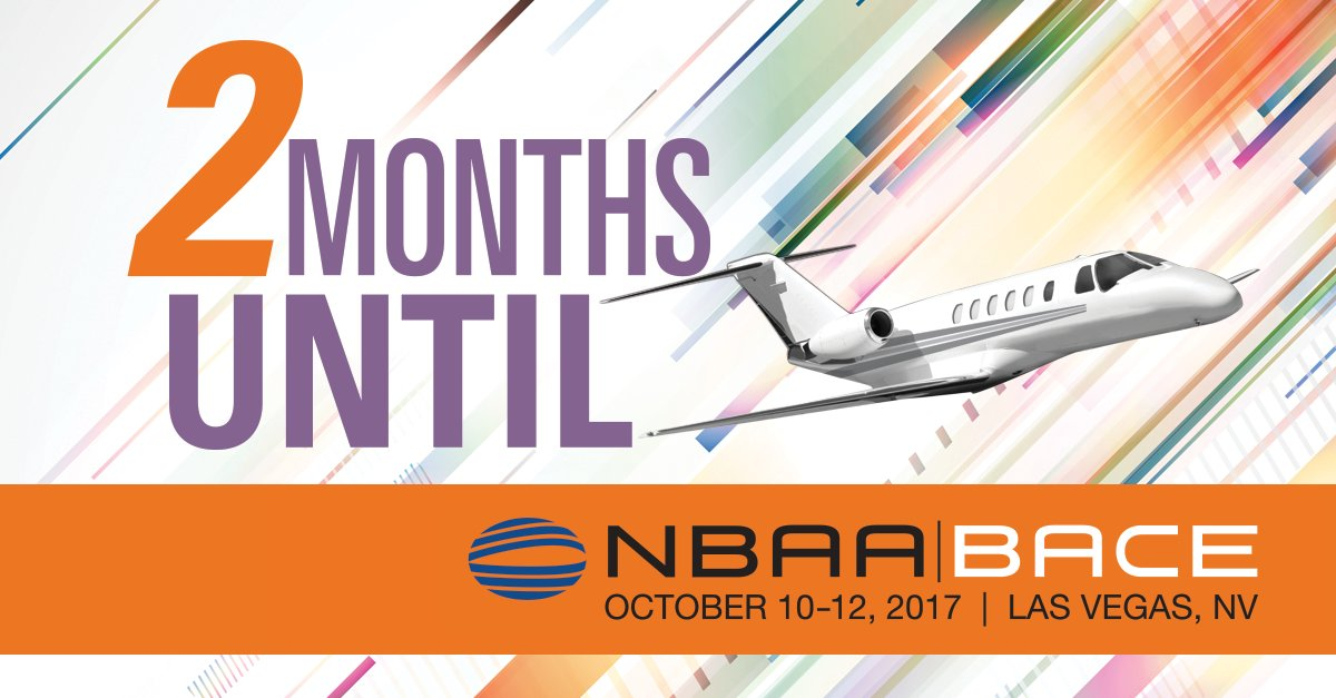 #NBAA17 opens 2 months from today! Follow us &amp; RT for a chance to win a free badge to #bizav&#39;s biggest event!  https://www. nbaa.org/events/bace/20 17/twitter-contest/ &nbsp; … <br>http://pic.twitter.com/s2Bezr2VC3