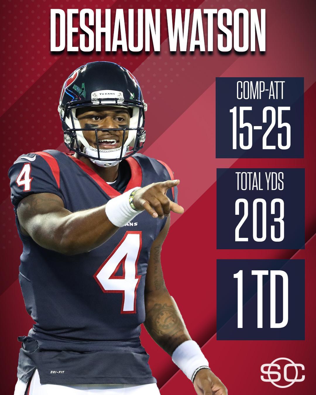 Deshaun Watson looked good in his Texans debut. https://t.co/l3Ojapjb9n