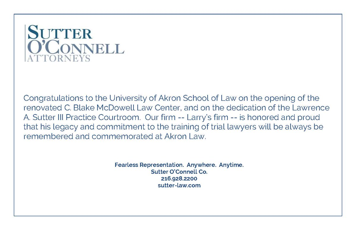 Akron law on twitter thank you sutteroconnell for this akron law on twitter thank you sutteroconnell for this beautiful congratulatory note and your support of akron law we are happy to continue this altavistaventures Choice Image