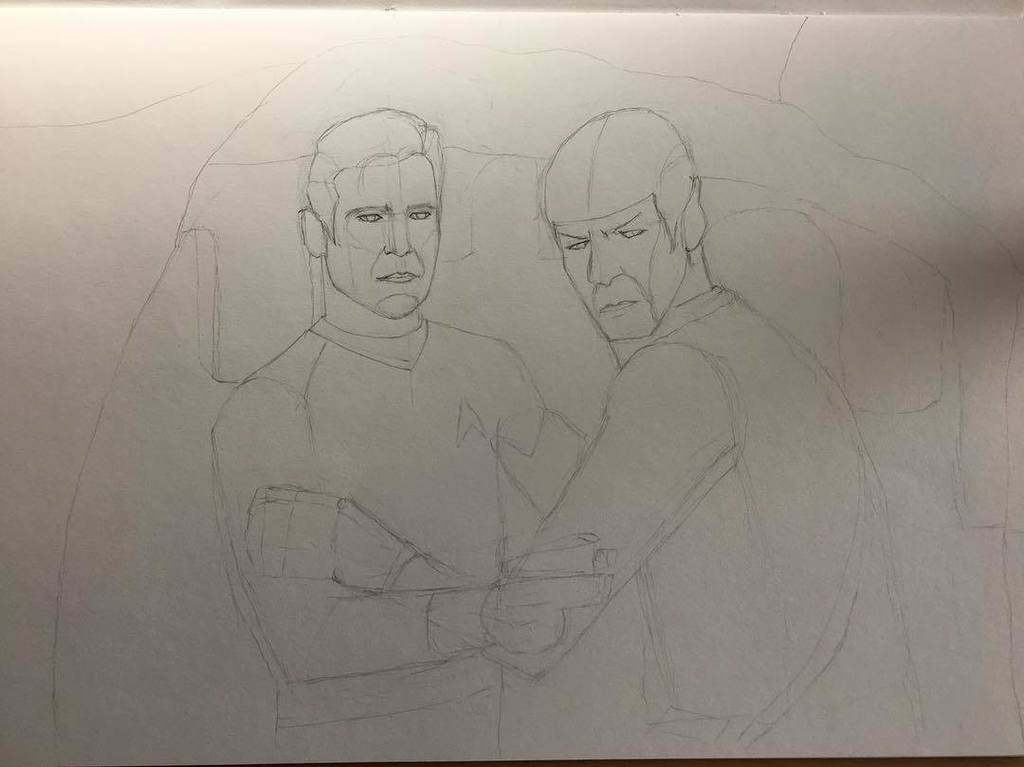 I may be being over-ambitious here, but yeah - that&#39;s a background. My first! #learningtodraw #startrek #badly #dr…  http:// ift.tt/2uJ307p  &nbsp;  <br>http://pic.twitter.com/GJWE5eLLts