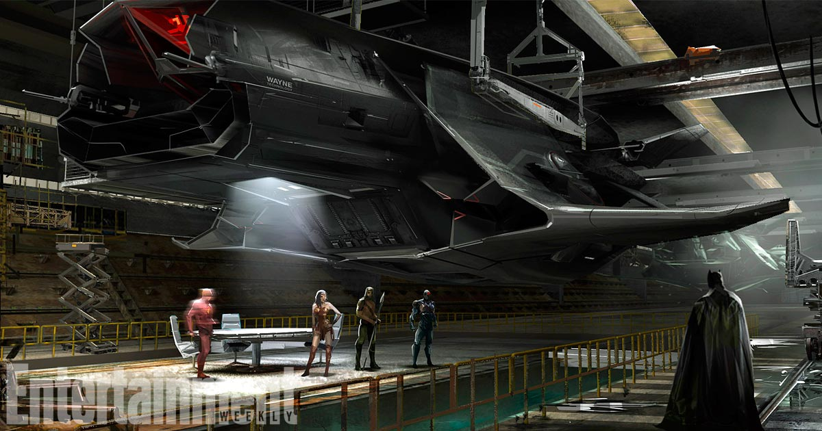 Exclusive: See the concept art for #Batman's epic plane in @justiceleaguewb: https://t.co/69ByQzWYsm #JusticeLeague