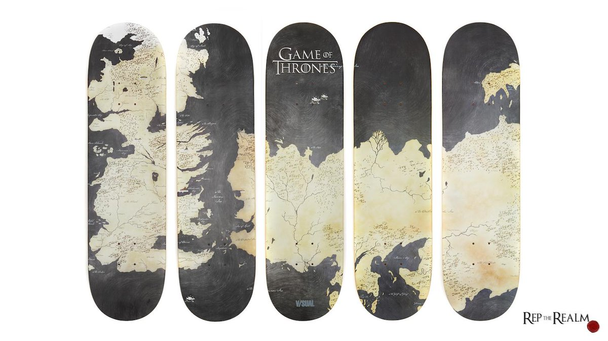Shred Westeros on these Game of Thrones map skateboards: https://t.co/KfqG2wUzy4