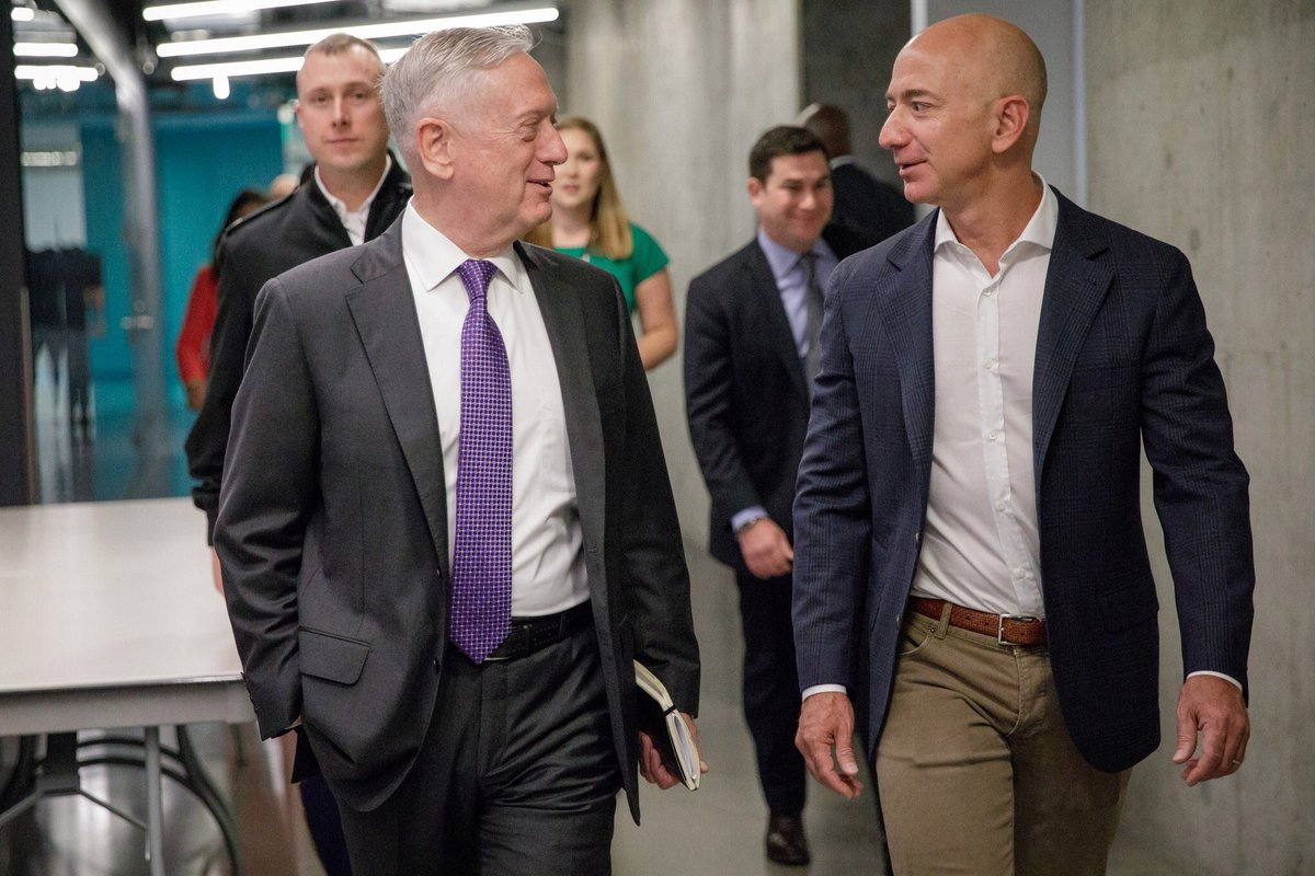 J D Durkin On Twitter Jeff Bezos Hosted Secretary Of Defense Mad