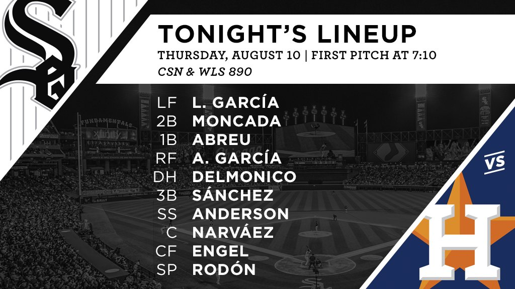 Tonight's #SoxGameDay starters: https://t.co/plbUcCtSma