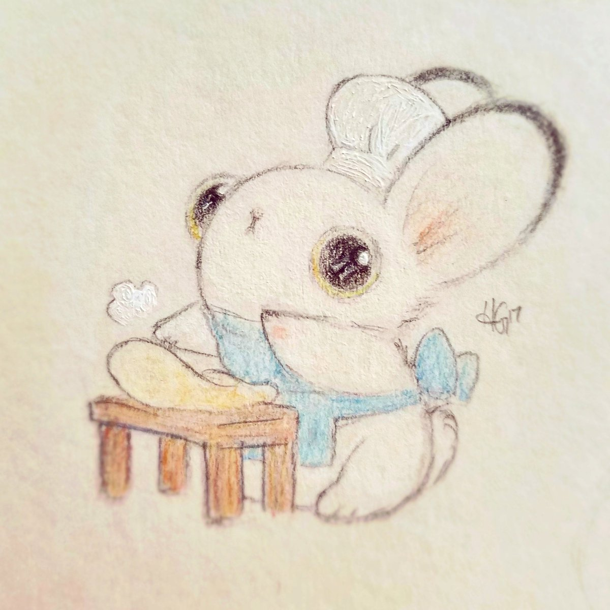Baker Bunneh is at it again!  What is he making this time...?   #bunny #drawing <br>http://pic.twitter.com/FwmuYCLYbU