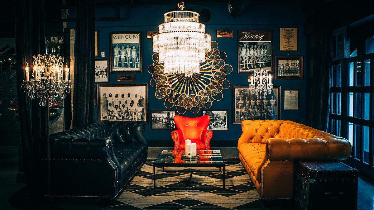 ... the Blue Room at @LAAC designed by @TimothyOulton  https://martynwhitedesigns.com/blogs/blog/timothy-oulton-blue-room-los-angeles-athletic-club
