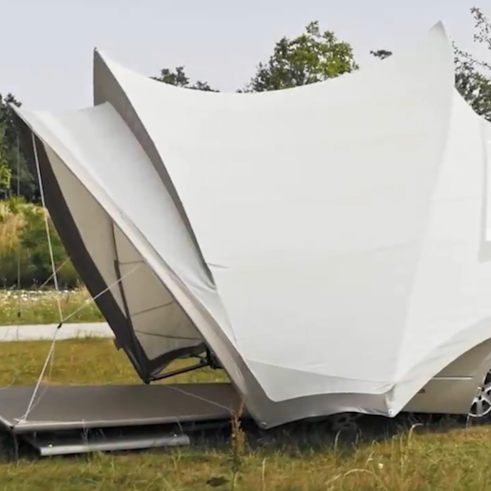This fabulous camper was modeled after the Sydney Opera House