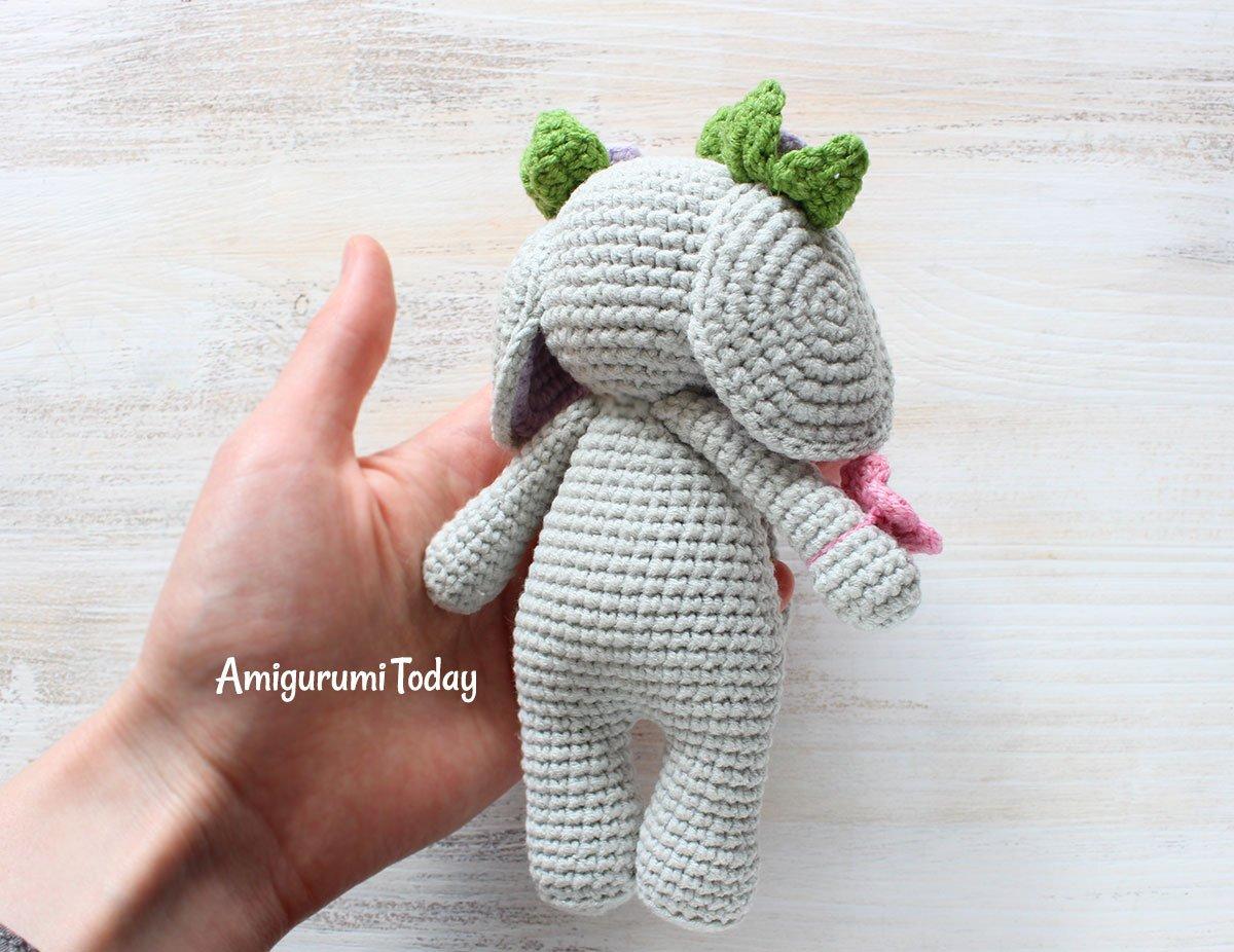Buy Crochet Artwork Amigurumi Handmade Soft Elephant Toy 39cms ... | 926x1200