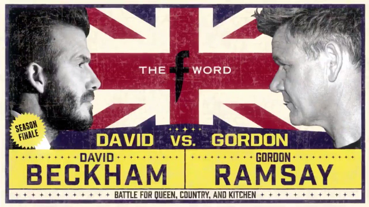 Next Wednesday on @TheFWordFOX, it's the ultimate battle....#BeckhamRamsay https://t.co/RfslzRYoYC