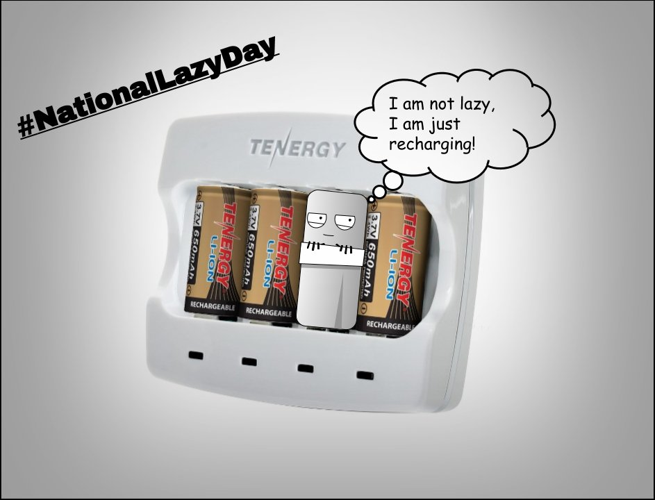 #NationalLazyDay Sometimes we all need to Recharge! https://t.co/C7fDdcuies