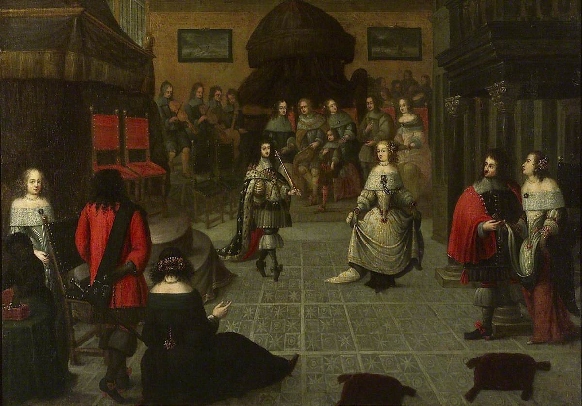 Gonzales #Coques (c.1614–1684) - Charles II dancing at The Hague, May 1660 (?) National Maritime Museum  #fineart #peinture <br>http://pic.twitter.com/GTWgC0wnov