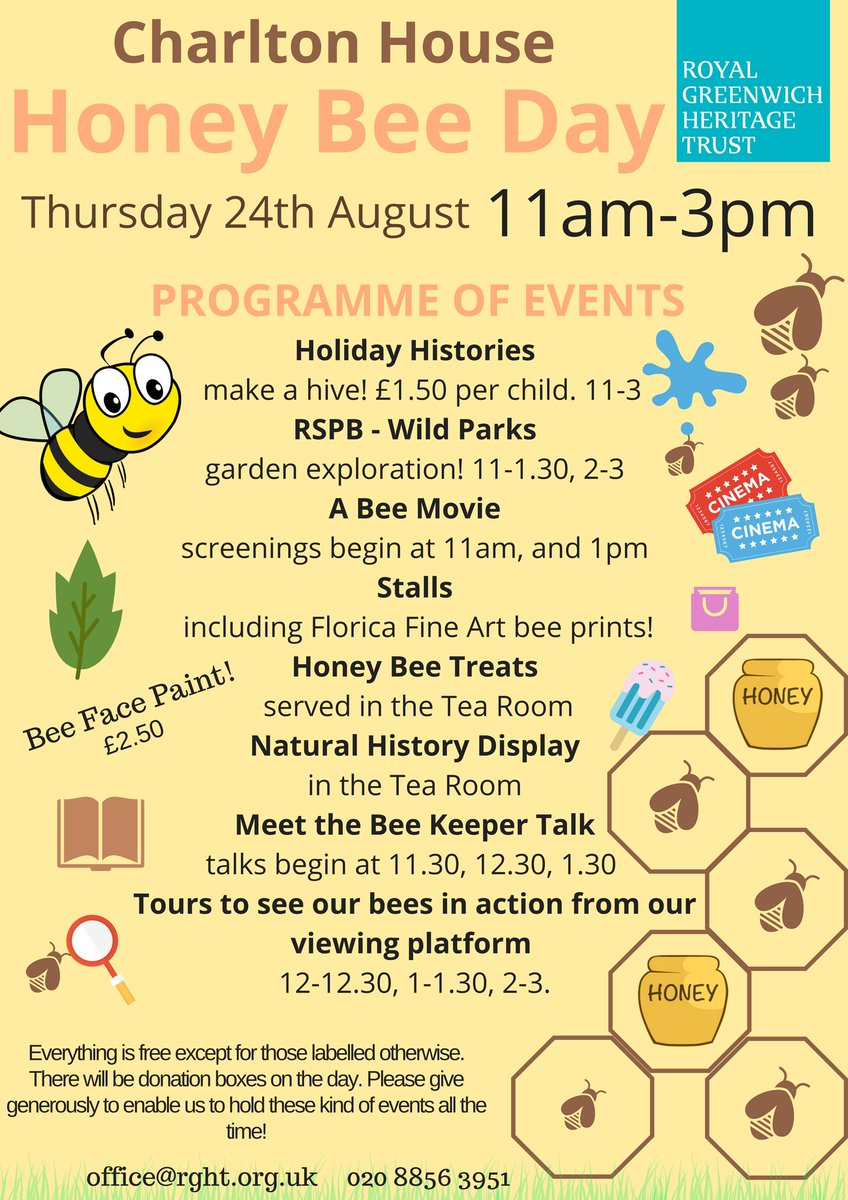 YAY! Honey Bee Day is on 24th of August and we've got lots planned! Who's coming? 🐝🐝🐝🐝🐝