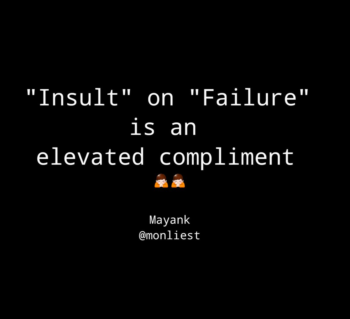 #Insult on #failure is a greatest #compliment  #lifequotes #quoteoftheday #insult #motivationalquotes #motivation #patience #compliments<br>http://pic.twitter.com/EOxjnZB4oy