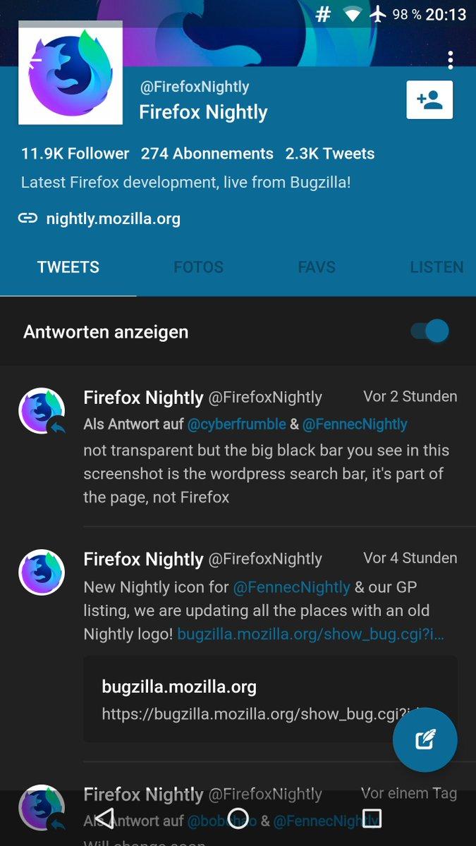 firefox nightly android dark theme