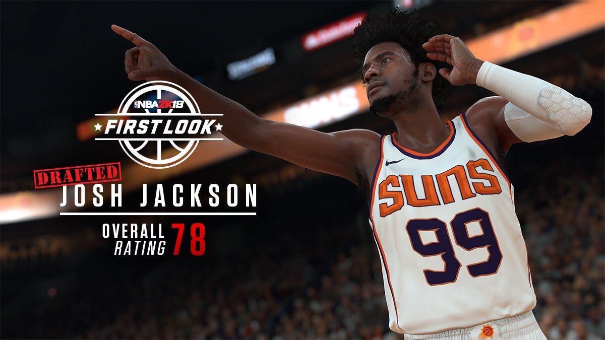 new style 1d8b1 93e0e Josh Jackson's 2K18 Overall is 78 : suns