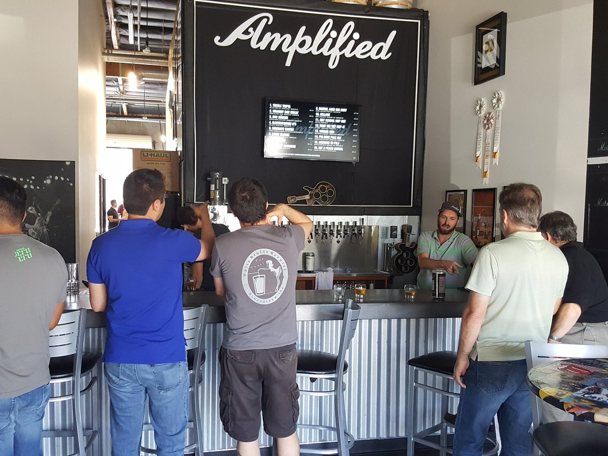 The best portion of the #brewery tour is the #tastings at the end! @AmplifiedAles has amazing beers!<br>http://pic.twitter.com/YZp63ycsFz