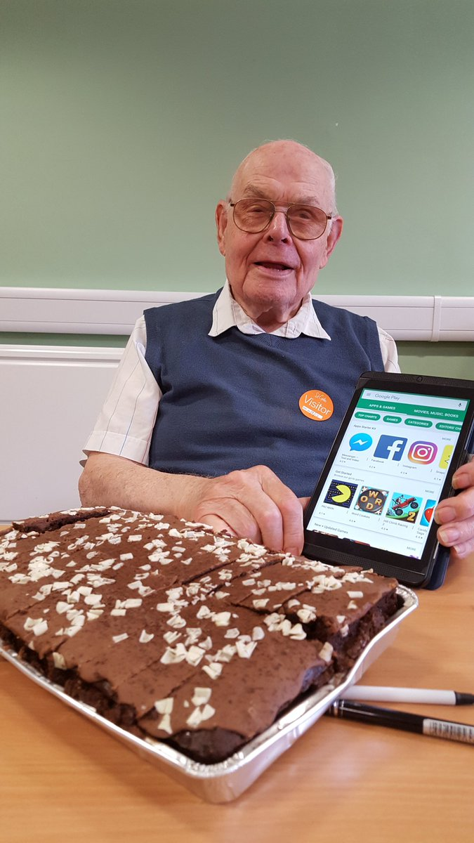 A very happy birthday to Fred who is 91 on Monday. Fred attends our computer club and we promised to make him famous on Twitter so please RT