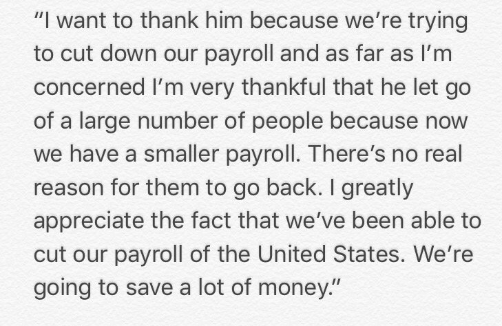 This is... extraordinary. Trump thanks Putin for expelling 755 US staff currently serving in Russia. Full quotation: https://t.co/c3HkbdUHk5
