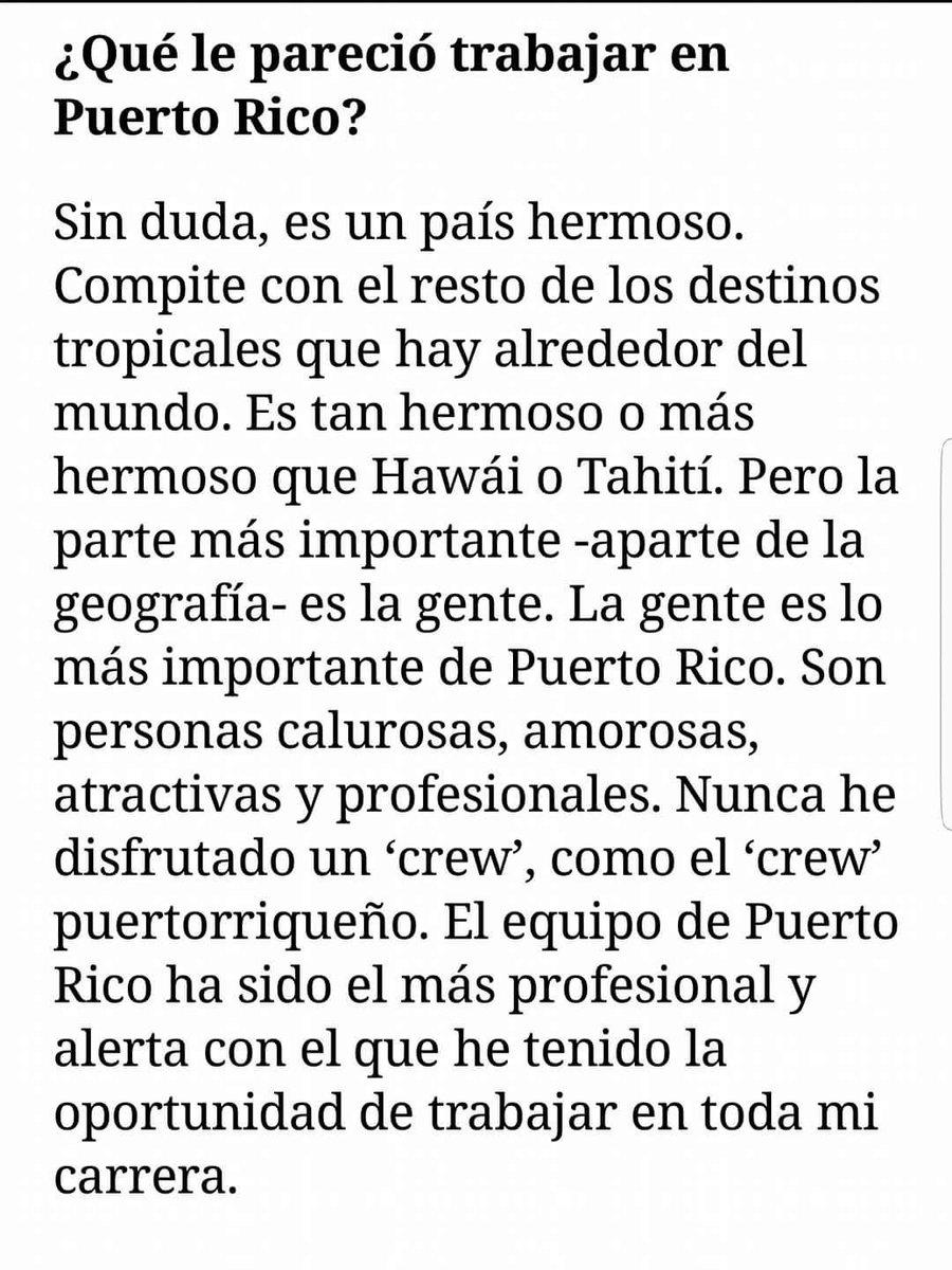 Palabras de John Travolta de su experiencia en Puerto Rico #redshadowpr https://t.co/abCXrAnJvc