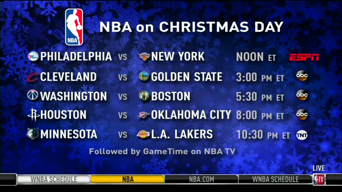 yahoo sports on twitter the nbas christmas day schedule is here via nbatv
