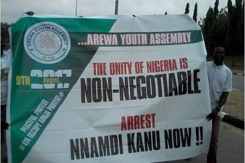 Photonews: Arewa Youths Hold Anti-Nnamdi Kanu Protest