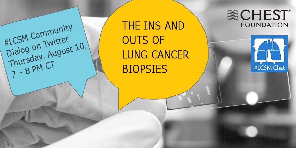 Thumbnail for #LCSM Chat Topic 8/10: The Ins and Outs of Lung Cancer Biopsies