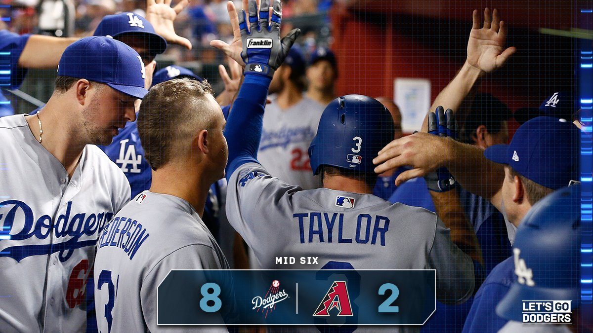 Mid 6:  #Dodgers 8, D-backs 2  �� https://t.co/ahndnsZip8