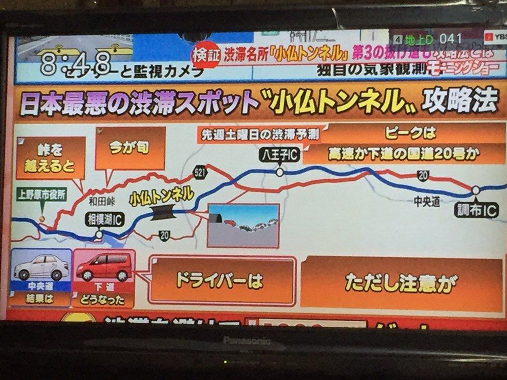 テレビが混雑時の東京〜山梨間の移動で和田峠をおすすめしてる https://t.co/gCUauxUjmg
