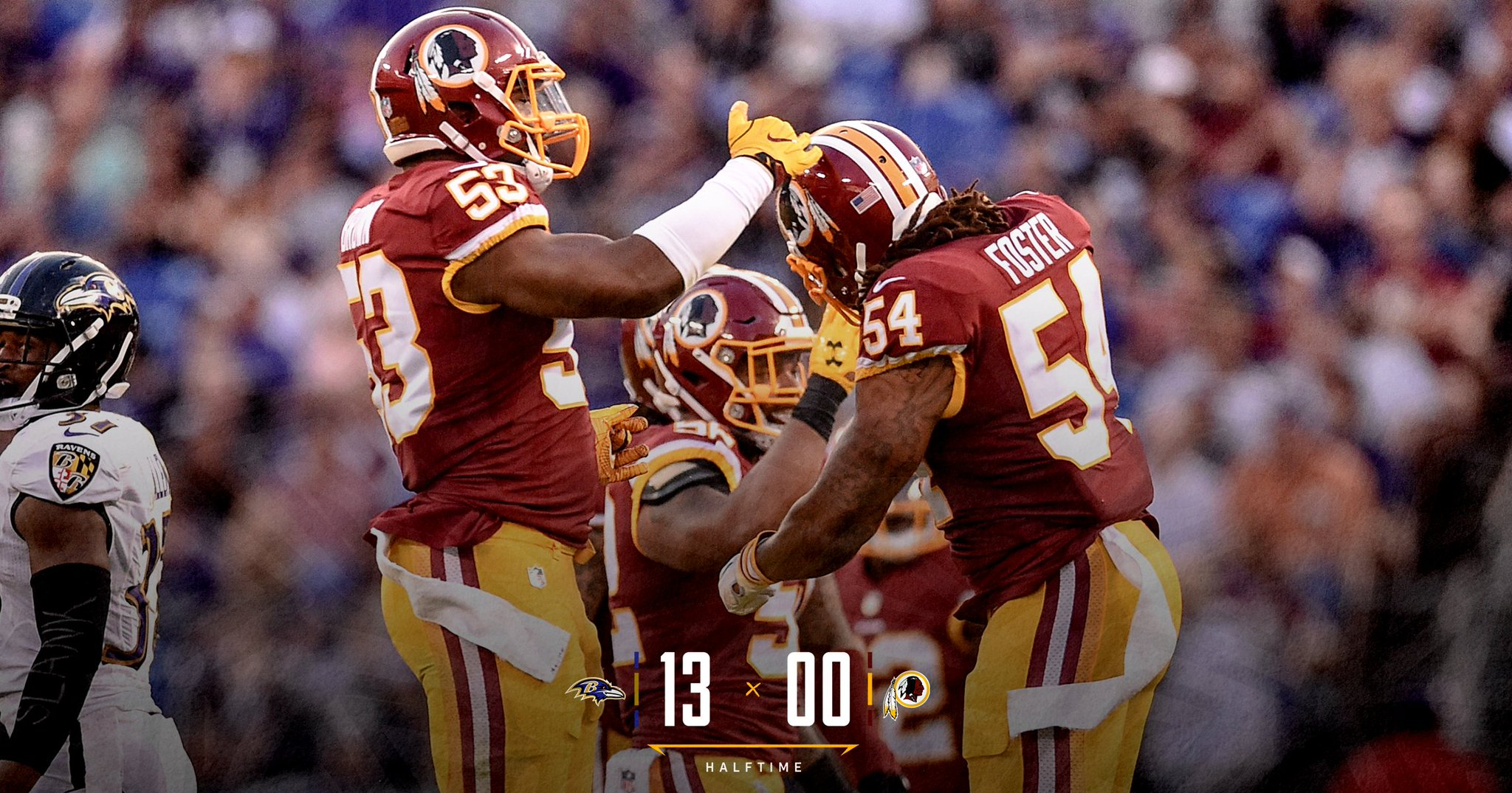 #Redskins trail Ravens through two quarters of #WASvsBAL.  ��: https://t.co/8iWWEs3luW https://t.co/ARoLS3TOLP
